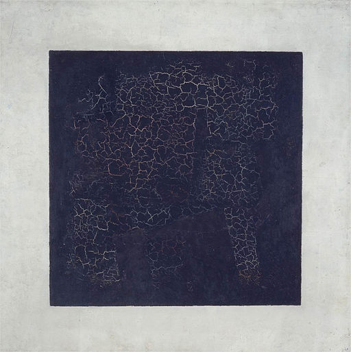 Kazimir Malevich, 1915, Black Suprematic Square, oil on linen canvas, 79.5 x 79.5 cm, Tretyakov Gallery, Moscow