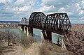 Kentucky and Indiana Bridge seen from Louisville Kentucky in March 1988 88c218.jpg