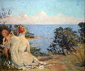 Vénus et l'Amour au bord de la mer