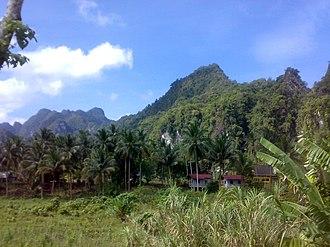 Tenasserim Hills - The Khao Sok mountains, Surat Thani, Thailand, towards the southern end of the Tenasserim Range