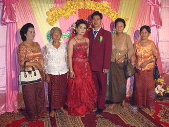 Chinese Cambodian - Chinese Cambodians at a wedding celebration in Kampong Thom