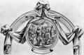 King Pedro refuses the Crown (decoration for the memorial service to King Pedro II of Portugal, Rome, S. Antonio de' Portoghesi, 1707) - Carlo Fontana.png