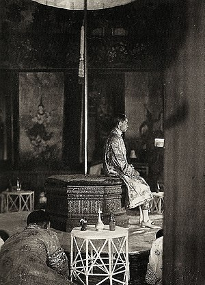 Prajadhipok - Coronation of King Prajadhipok inside the Phaisan Thaksin Hall, Grand Palace on 25 February 1926.