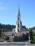 Pfarrkirche Herz Jesu mit terrassierter Friedhofsanlage (1893)