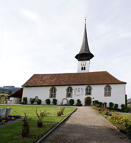 The Kirchenthurnen church, a heritage site of regional significance.