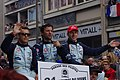 Klien, Turner, and Mücke Le Mans drivers parade 2011.jpg