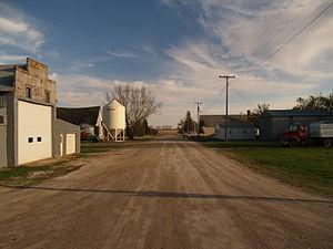 Knox, North Dakota - Street in Knox