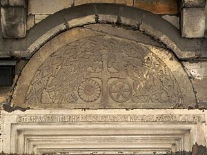 Końskie - Image: Końskie saint Nicholas church tympanum