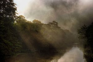 Nagaon district - A view of Kolong river on a misty winter morning. Photography by Diganta Talukdar, Nagaon
