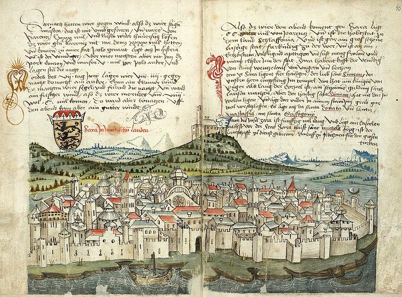 File:Konrad von Grünenberg - Beschreibung der Reise von Konstanz nach Jerusalem - Blatt 09v-10r.jpg