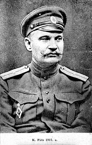 Konstantin Päts - Ensign officer Konstantin Päts in 1917