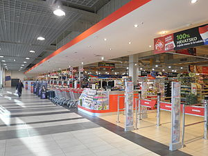 Konzum - Interior of a large Konzum store in Split