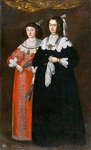 Janusz Radziwiłł (1612–1655) - Portrait of two wives of Janusz Radziwiłł, 1640s
