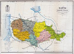 Ковенская губэрня на мапе