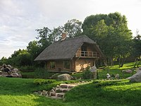 A cottage hotel in a rural area is a sign of increasingly popular agrotourism.