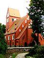 Kruszyn, kościół ewangelicki, ob. rzym.-kat. fil. p.w. św. Kazimierza,1908 - otoczony kamiennym murem.JPG