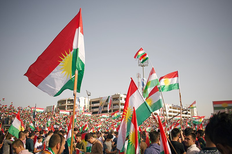 File:Kurdish flags at the pro-Kurdistan referendum and pro-Kurdistan independence rally at Franso Hariri Stadiu, Erbil, Kurdistan Region of Iraq 12.jpg
