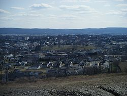 View of Kutztown from hill north of town