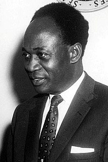 Kwame Nkrumah Ghanaian pan-africanist and the first Prime Minister and President of Ghana
