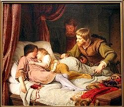 Theodor Hildebrandt: L'Assassinat des enfants d'Edouard by Theodor Hildebrandt