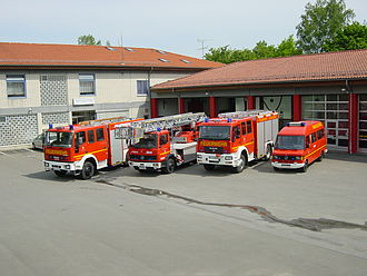 German fire services - Fire platoon of one of the stations of the fire department of the city of Hofgeismar