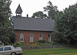 The Lakefork Schoolhouse, built 1880