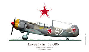 Ivan Kozhedub - Lavochkin La-5FN, operated in 1944