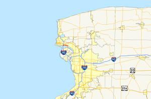 LaSalle Expressway - Image: La Salle Expressway map