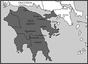 Achaean League - Achaean League in 150 BC