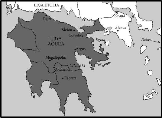 La Liga aquea en 150 aC