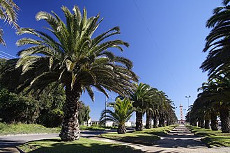 La Serena, Chile - The end of Francisco De Aguirre Avenue.