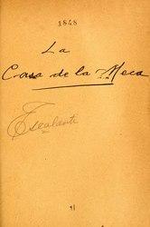 Eduardo Escalante: La casa de Meca : pieza bilingüe en un acto y en verso