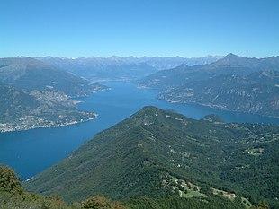 Panorama verso nord dal Monte San Primo
