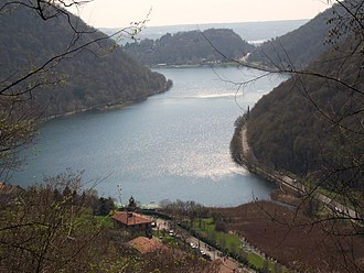 Canzo - Lago del Segrino from the Budracch path, one of the first places near Canzo that was colonized during the Mesolithic.