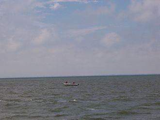 Lake Winnebago - Fishing boat seen from the Stockbridge Harbor