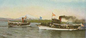 Lake Washington steamboats and ferries - Steamboats on Lake Washington near Leschi Park, circa 1906.