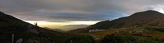 High Huts of the White Mountains - Lakes of the Clouds Hut at sunset