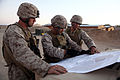 Lance Cpl. Michel Tarbutton (left), Sgt. Julian Bejarano (middle) and Capt. Stephen Turner (right) with Joint Fires Observer, Joint Terminal Attack Control, Combat Logistics Regiment 2, 2nd Marine Logistics 120925-M-KS710-001.jpg
