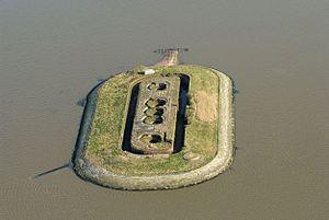 Langlütjen - The island Langlütjen II today (2013).