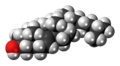 Lathosterol molecule spacefill.png