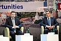 Latvijas Ministru prezidents Valdis Dombrovskis, Lietuvas Ministru prezidents Aļģirds Butkevičs (Algirdas Butkevičius) un Igaunijas premjerministrs Andruss Ansips (Andrus Ansip) apmeklē Baltijas attīstības forumu (8888343056).jpg