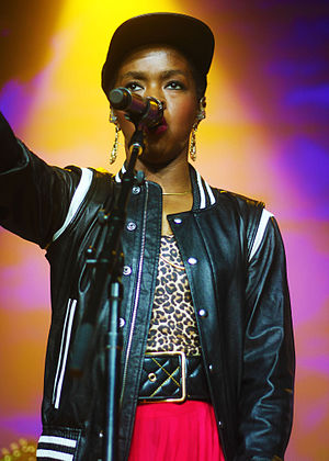 Rapping - image of rapper Lauryn Hill performing in 2014