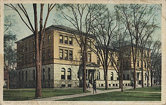 University of Michigan Law School - University of Michigan Law Building, circa 1910s