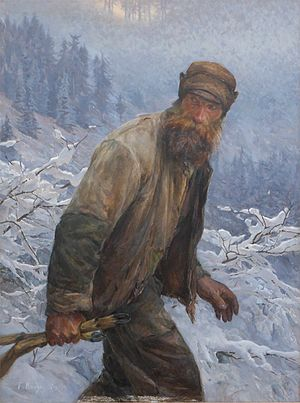 Poaching - The Poacher by Frédéric Rouge (1867–1950)