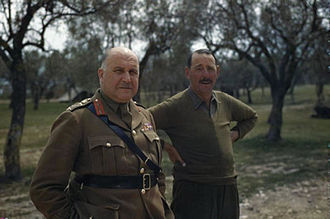Henry Maitland Wilson - Wilson with Lieutenant General Sir Oliver Leese, Italy, 30 April 1944