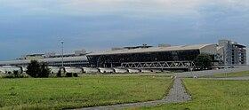 Le terminal principal de l'aéroport.