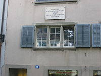 2006 photo of Lenin's rented house in Zurich, Switzerland.