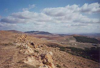 Hautes Plaines - Landscape of the eastern Hautes Plaines near Ksar Sbahi, Oum el Bouaghi Province