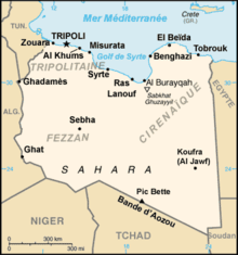 Description de l'image Libya-CIA WFB Map-fr.png.