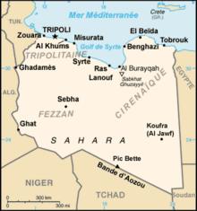 Description de l'image Libya-CIA WFB Map-fr.png.